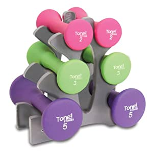 Tone Fitness 20 lb. Hourglass Dumbbell Set by Cap Barbell