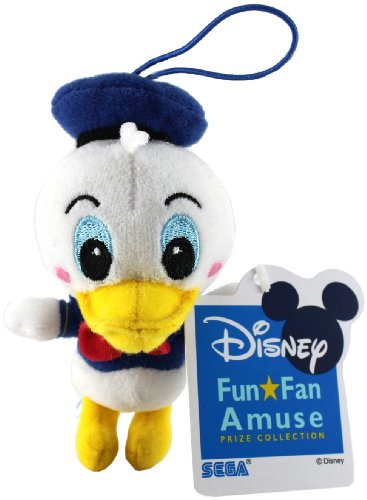 "Sega/Disney Prize Collection Plush Strap - 4"" - Donald Duck - 1"