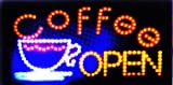 "LED Neon Light Open Coffee Cafe Sign By ""E Onsale"" (Coffee L51)"