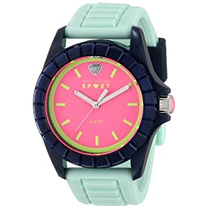 Juicy Couture Women's 1901114 Sport TR90 Mirrored Faceted Bezel Watch