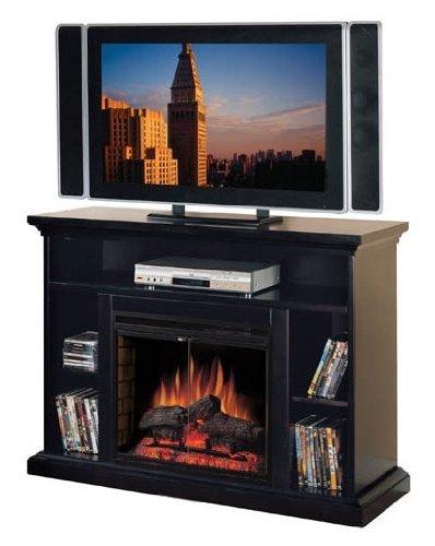 28 In. Media Electric Fireplace In Brown Wood Veneer Finish