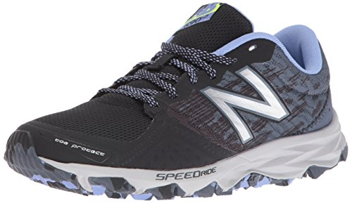 New Balance Women's wt690v2 Trail Running Shoes, Black/Grey, 9 B US