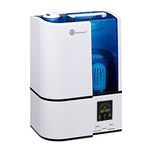 TaoTronics Ultrasonic Cool Mist Home Humidifier (with Constant Humidity Mode, Mist Level Control, Timing Settings, Built-in Water Purifier, LED Nightlight, Zero Noise, Auto Shut-off, 30W, 4L) - TT-AH001