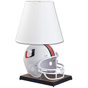 NCAA Miami Hurricanes Helmet Lamp by WinCraft