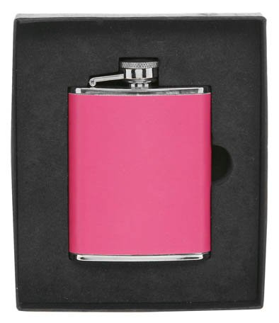 Pink Ladies Hip Flask, 3oz Capacity. Ideal women's gift (59010)