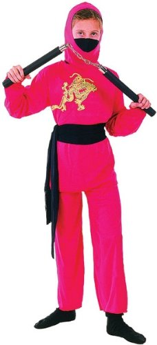 Bristol Novelty Ninja Red Childrens Costume Girls Large 9-12 Years