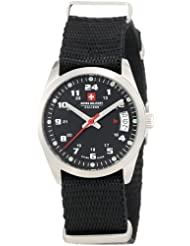 Swiss Military Calibre Women's 06-6T1-04-007 Trooper Black Dial Canvas 24-Hour Date Watch