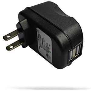 RND 2.1A (fast) Dual USB AC Adapter / Wall charger for iPads, Tablets, Smartphones, MP3 Players and Gaming Devices (black)