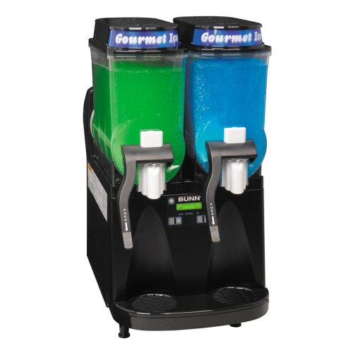 Bunn Ultra-2 HP High Performance Slushy / Granita Frozen Drink Machine with 2 Hoppers - Black 120V (Bunn 34000.0080)
