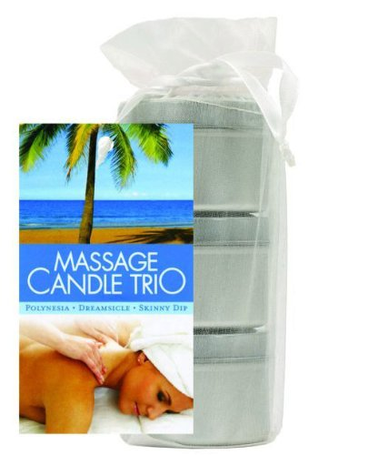 Earthly Body Massage Candle Trio
