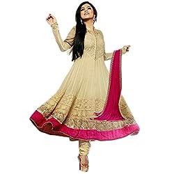 Clickedia Women's Silk & Georgette Dress Material(Dhrashti New Chicku_Chicku_Free Size)