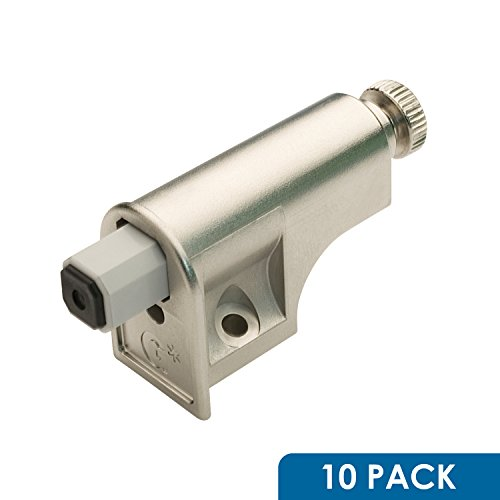 Rok Hardware 10 Pack Soft Close Damper for Cabinet Doors / Compact / Soft Close Adapter / Nickel / Hardware / Hinge (Slow Closing Hardware compare prices)