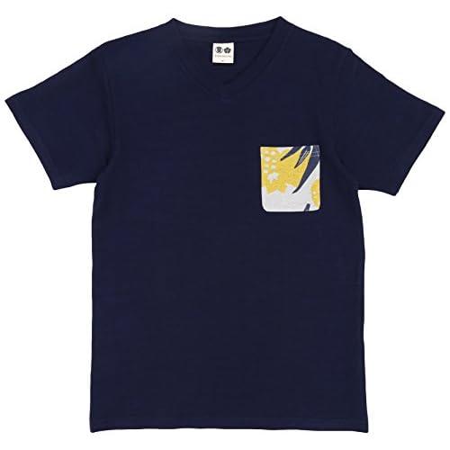 (ブーテンショウテン)BUDEN SHOTEN 豊天商店 パイナップル柄ポケット付半袖Tシャツ BU1152079  94藍 LL
