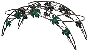 River Cottage Gardens SPS955 3-Tier Cooper Wash Metal Construction Grape Design Plant Stand (Discontinued by Manufacturer)