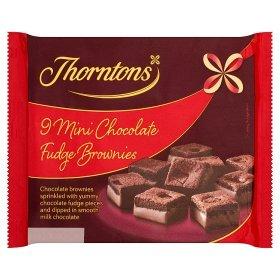 Thorntons Mini Brownie Fudge Bites 9 Per Pack (Thornton Chocolate compare prices)
