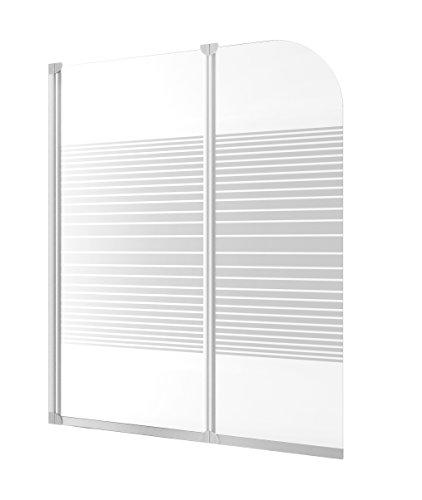 Duschabtrennung Badewanne Glas 2 teilig 140x114 cm Köln