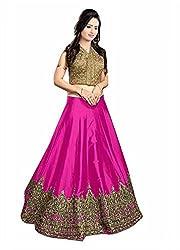 Trendigo FashionHub Women's Designer Multi-Coloured Silk Semi-Stitched Lahenga Choli [TFHuB_L135 (2)_G_Multi-Coloured]