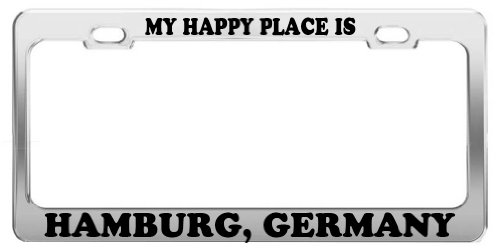MY HAPPY PLACE IS HAMBURG, GERMANY License Plate
