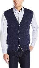 Nautica Men's Snow Cotton Button Vest Sweater, Classic Navy, Medium