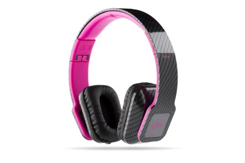 Vm Audio Elux On Ear Dj Stereo Mp3 Iphone Bass Headphones - Carbon Fiber/Pink