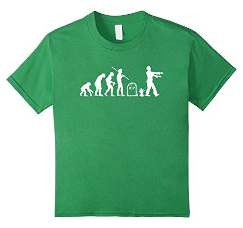 [Kids Zombie Evolution Funny Zombie T-Shirts 10 Grass] (Kid Zombie Costumes Ideas)