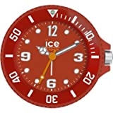 Ice-Clock 90 mm Travel Alarm Clock, Red