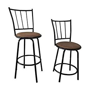 Counter Height Stools Amazon : ... Metal Swivel Counter Height Bar Stools (Set of 2): Kitchen & Dining