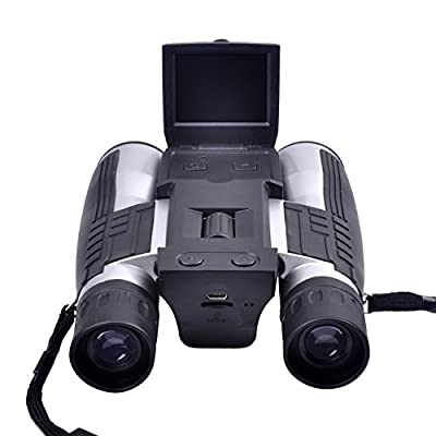 PowerLead Pxlo FS608 Digital Camera Binoculars FHD Digital Camera Spy Cameras Folding Prism Binoculars Camera
