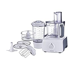 Kenwood FDP613 1000W 3L Multipro Food Processor (White and Grey)