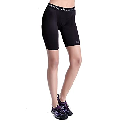 Clothin Women's Compression Running Shorts Yoga Cycling Workout Print Capris Leggings Shorts Spandex Bottoms