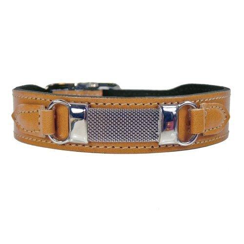 hartman-rose-barclay-dog-collar-16-to-18-inch-tan-by-hartman-rose