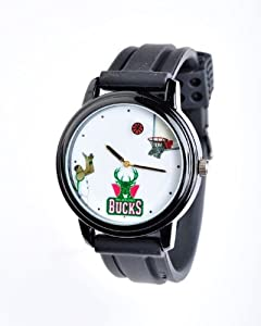 NBA Milwaukee Bucks Shooting Ball Black Watch and Band by Overtime Watch