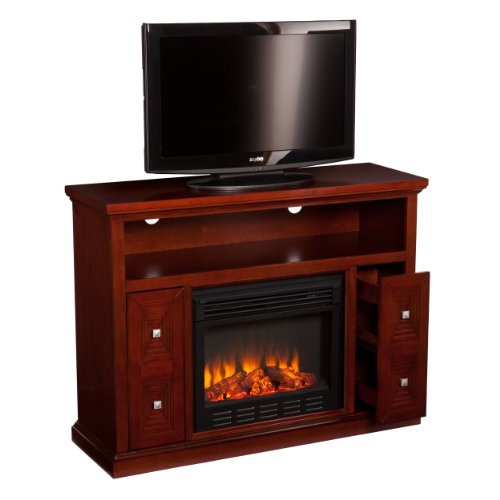 Southern Enterprises AMZ8939FE Cutler Media Console/Stand Electric Fireplace, Cherry