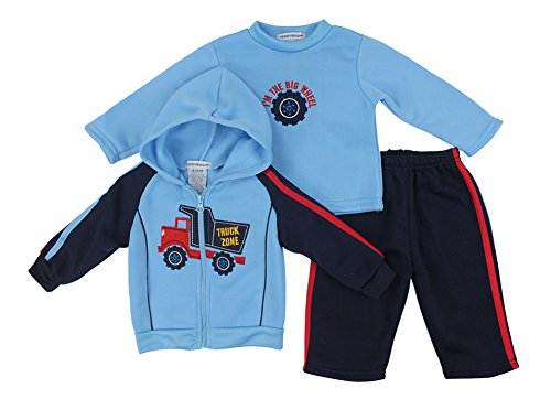 Alfa Global Baby-Boys Infant Three-Piece Fleece Set Blue 0-3 Months back-1067525