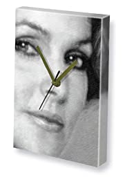 PRISCILLA PRESLEY - Canvas Clock (A4 - Signed by the Artist) #js001