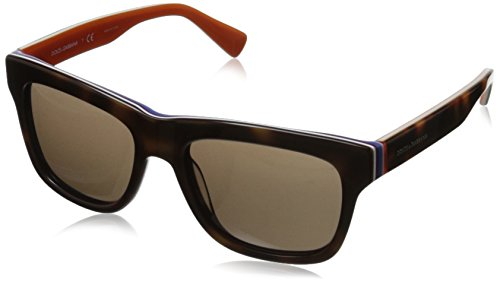 D&G Dolce & Gabbana Men'S 0Dg4203 Square Sunglasses,Havana & Multilayer Orange,54 Mm