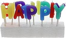 VANKER 13 Pcs Feliz cumpleaños velas boda encantador colorido del partido