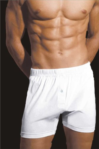 New 5 Pair Pack Mens Classic Lightweight Jersey Cotton Button Fly Boxer Short Underwear. To Fit UK sizes Small Medium Large XL 2X-Large