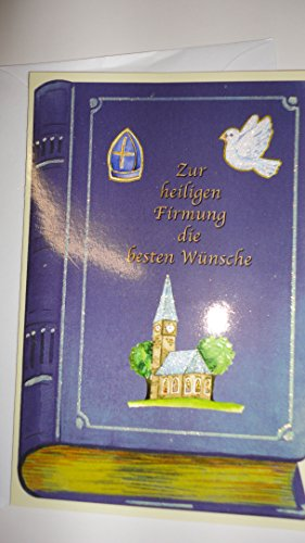 """HaWeKa Karte """"Zur heiligen Firmung die besten Wünsche"""" mit Bibel Nr.1018."""