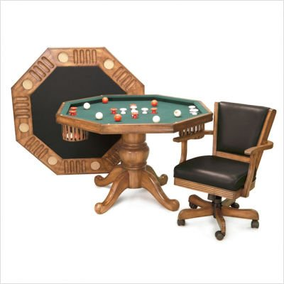 3-In-1 Game Table Finish: Mahogany