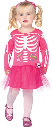 Morris Costumes Little Girls' Candy Skeleton 3T-4T