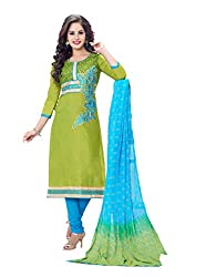 RK Fashion Womens Cotton Un-Stitched Salwar Suit Dupatta Material ( MITTAL-SANAM-7002-Green-Free Size )