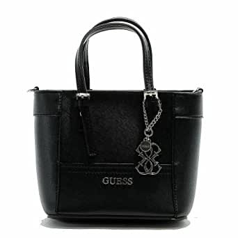 Guess Women's Delaney VY453577 Petite Classic Tote Handbag (Black)