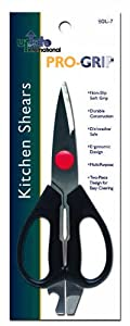 Update International EGU-7 Pro-Grip Stainless Steel Kitchen Shear with Plastic Handle, 8-1/2-Inch