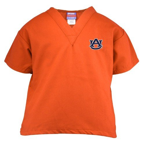 NCAA Auburn Tigers Youth Orange Wordmark Scrub Top (Small) at Amazon.com