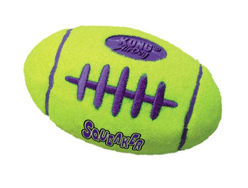 Kong Air Dog Squeaker Football Dog Toy, Large, Yellow