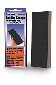 Mercer Abrasives 278LFI-12 Extra Large Sanding Sponges, 3-5/16-Inch by 9-Inch by 1-Inch, Fine Grade, 12-Pack