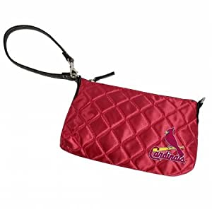 MLB St. Louis Cardinals Retro Quilted Wristlet, Classic Red by Littlearth