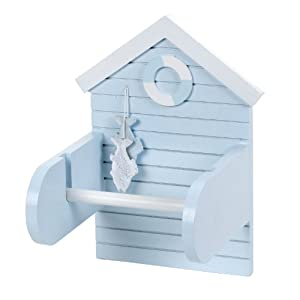 Salco 15 x 20 cm Beach Hut Toilet Roll Holder
