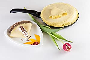 Induction Crepe and Pancake Pan Non-Stick. Batter Spreader Included